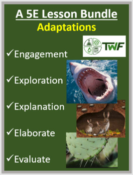 Physical and Behavioral Adaptations - Complete 5E Lesson Bundle