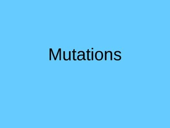 DNA Mutations Notes
