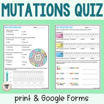 DNA Mutations Quiz
