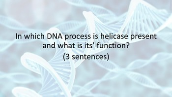 DNA Processes Writing Task Cards for Secondary Science