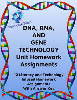 DNA, Protein Synthesis, And Gene Technology Homework, Enrichment,& Reinforcement