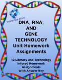 NO PREP DNA, RNA, Protein Synthesis, And Gene Technology Activity Bundle