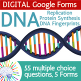 DNA & Protein Synthesis Review Questions | DIGITAL Google Forms