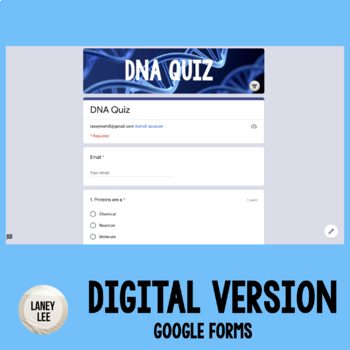 DNA Quiz - Transcription, Translation, and Replication