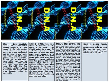 DNA, Quiz cards