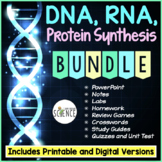 DNA, RNA, Protein Synthesis Bundle: PowerPoint, Labs, Review Games, Study Guide