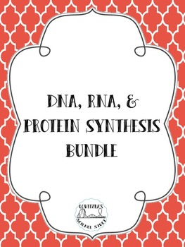 DNA, RNA, and Protein Synthesis BUNDLE