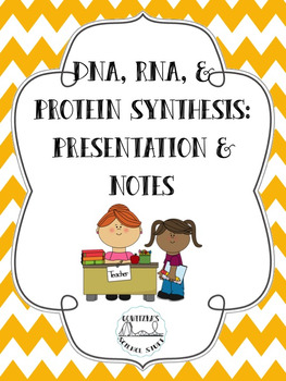 DNA, RNA, and Protein Synthesis: Presentation and Notes Bundle