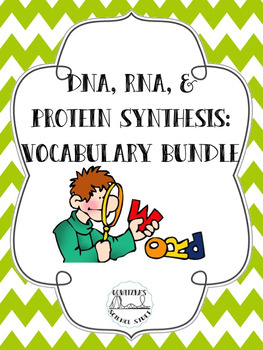 DNA, RNA, and Protein Synthesis Word Wall and Vocabulary Bundle