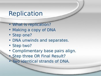 DNA Replication PPT (PowerPoint)