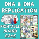 DNA & Replication Printable Board Game WITH Game Question Cards!