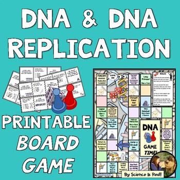picture about Printable Board Games for Adults named DNA Replication Printable Board Match WITH Video game Ponder Playing cards!