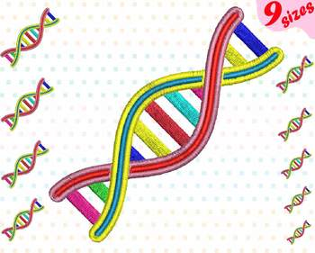 DNA Structure Embroidery Design Science medicals scientific doctor Biology 140b