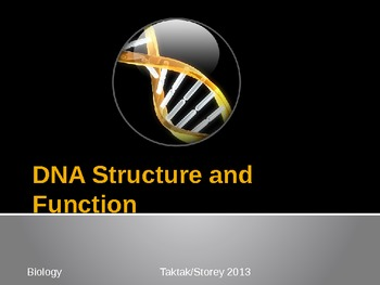 DNA Structure and Function Powerpoint