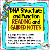 DNA Structure and Function Reading and Guided Notes