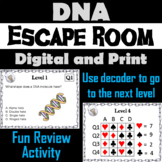 DNA Structure and Function Activity: Escape Room - Science