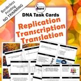 DNA Task Cards - Replication, Transcription & Translation