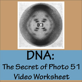 DNA-The Secret of Photo 51 Video Worksheet