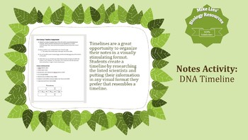 DNA Timeline Group Assignment