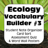 Ecology Terms THREE: Glossary of Terms, Quiz, & Word Wall Posters