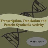 DNA Transcription, Translation, and Protein Synthesis Activity NGSS* Aligned