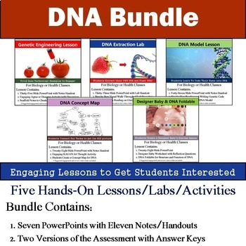DNA Unit - Engaging Five 90min Lesson Bundle with Assessment