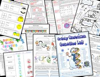 DNA and Heredity InterActive Notebook Unit Bundle