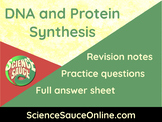 DNA and Protein Synthesis - Handout and practice questions
