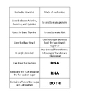 DNA and RNA Card Sort