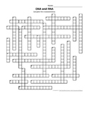 DNA and RNA Crossword Puzzle