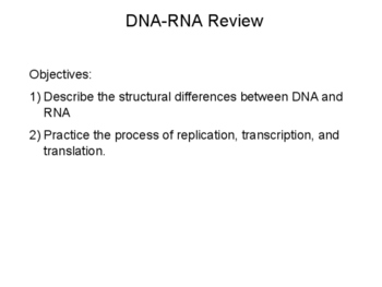 DNA and RNA Review Presentation