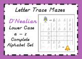 D'NEALIAN Letter Trace Mazes - Lower Case Alphabet Set a - z