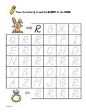D'NEALIAN Letter Trace Mazes - Upper Case Letter R
