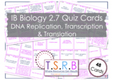 DNa Replication, Transcription and Translation Quiz Cards