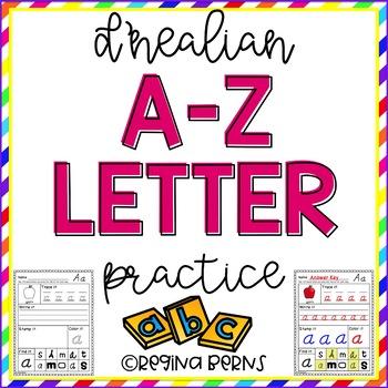D'Nealian A-Z Letter Practice