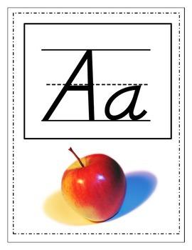 D'Nealian Alphabet Board