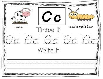 D'Nealian Alphabet Handwriting Practice