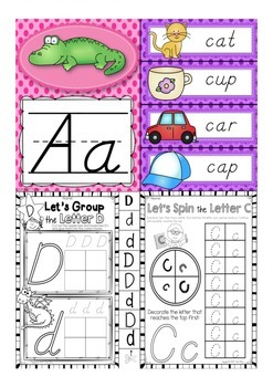 D'Nealian Alphabet Letter Of The Week A to Z BUNDLE