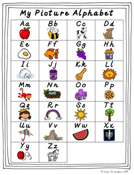 D'Nealian Alphabet Line - Pastel & Gray Chevron