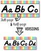 D'Nealian Alphabet Line - Soft Rainbow Vertical Stripes
