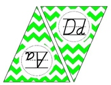 D'Nealian Alphabet Pennants
