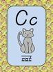 Monkey Themed D'Nealian Alphabet Posters