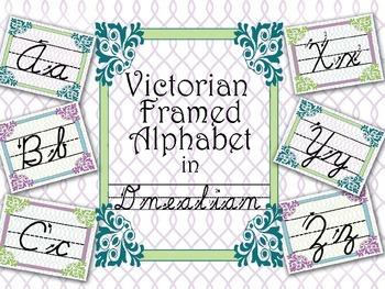 D'Nealian Alphabet Posters Victorian