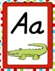 D'Nealian Alphabet Posters and Word Wall Headers Multi Dots