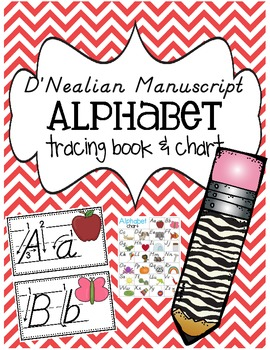 D'Nealian Alphabet Tracing Book and Chart