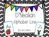 D'Nealian Alphabet line