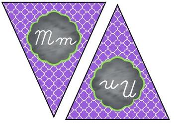 D'Nealian Cursive Alphabet Banner - Small