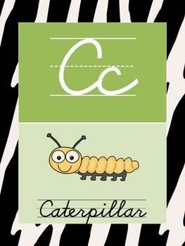 D'Nealian Cursive Alphabet Cards