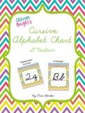 D'Nealian Cursive Alphabet Chart {Chevron Brights}
