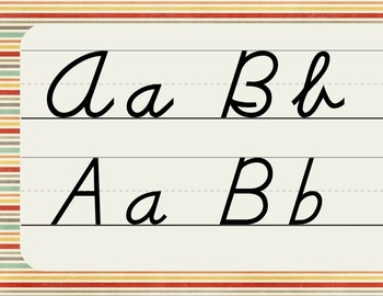 D'Nealian Cursive and Manuscript Combined Alphabet Line + bonus Nameplates